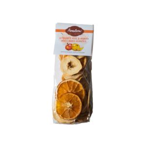 Getrocknete Äpfel und Orangen